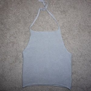 Brandy Melville Light Blue Halter Top